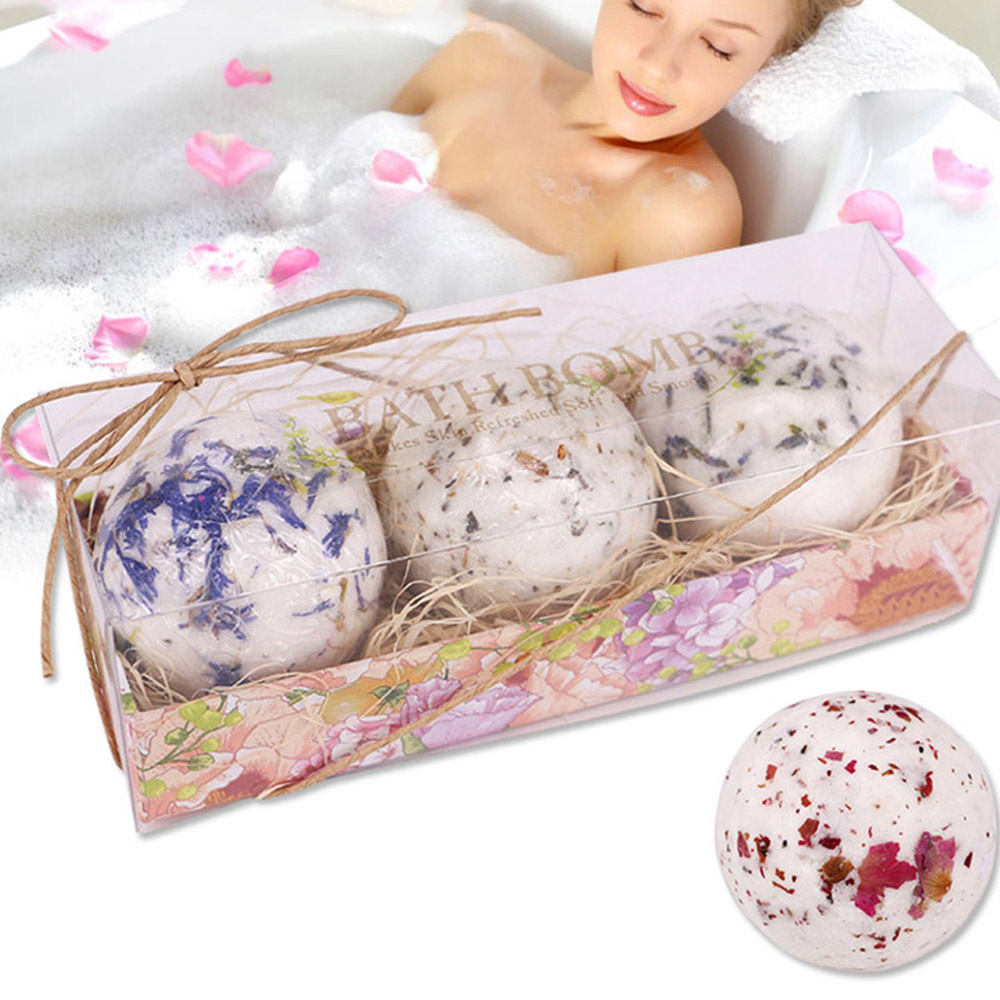 Bath Salt Bombs Bubble Salts Ball Oil Sea Salt Handmade SPA Stress Bath Accessories Shower Salts