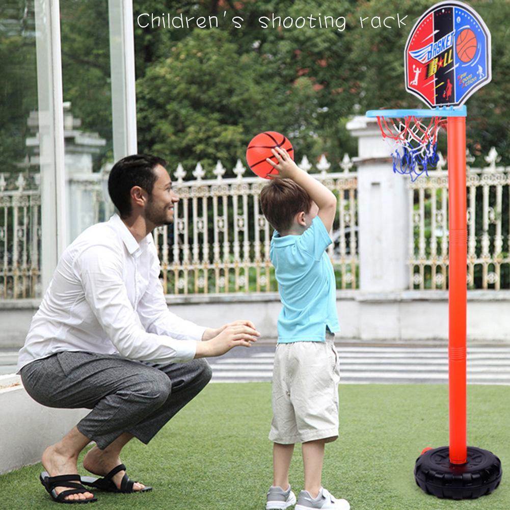 Children Gift Basketball Stand Adjustable Outdoor Indoor Sports Portable Basketball Hoop Toy Set Stand Ball Backboard Kit