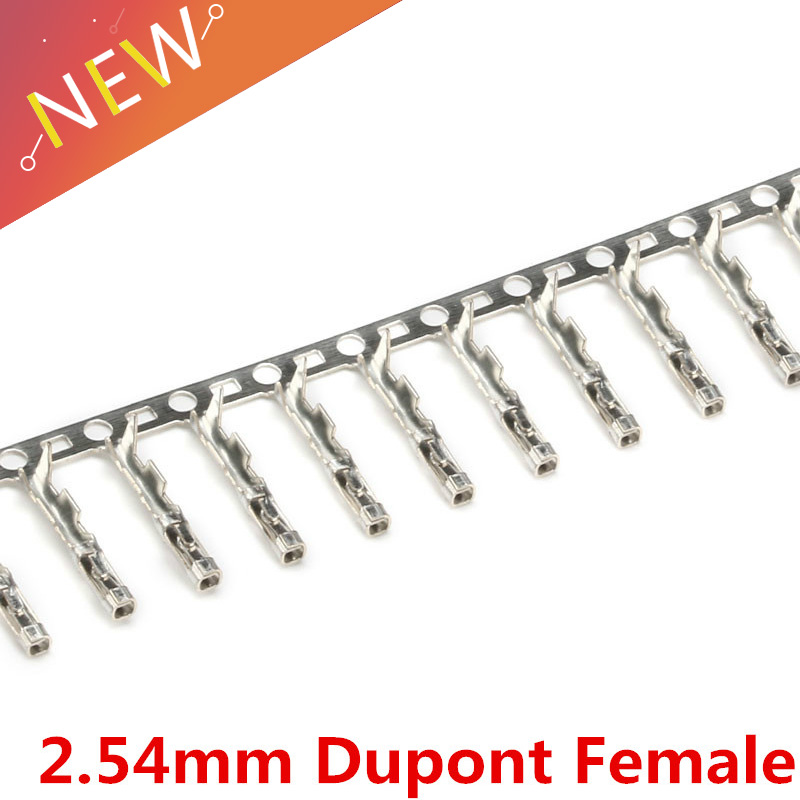 100PCS 2.54mm Dupont Jumper Wire Cable Housing Female Pin Connector Terminal For Dupont Jumper Wire Cable