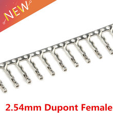 100PCS 2.54mm Jumper Wire Cable Housing Female Pin Connector Terminal For Jumper Wire Cable(China)