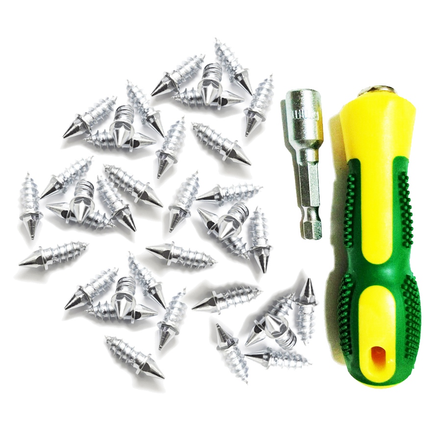 100Pcs/lot 2.7cm length Winter Car Vehicle Anti Slip Screw Stud Wheel Tire Snow Nail Spike Anti-Slip Screws +Installation tool