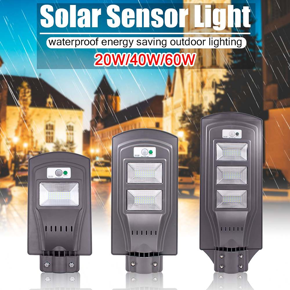 Motion Sensor Wasserdichte LED Solar Straße Licht 20 W/40 W/60 W Super Helle Sicherheit Lampe für outdoor Garten Yard Wand