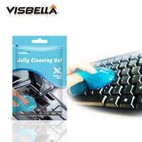 Visbella Gelee Reinigung Gel Effektive Klar die Lücken und Ecken von Staub und Schmutz für Auto Tastatur Fans Kamera Hand werkzeug Sets
