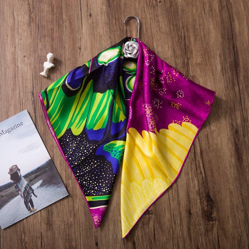 100 Silk Twill Scarf 2019 NEW Women Luxury Brand Headband Shawl Scarves Hijab Wraps Foulard Butterfly
