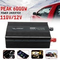 Modified Sine Wave Power Inverter 3000W 6000W Peaks DC12V to AC110V/220V Car Home
