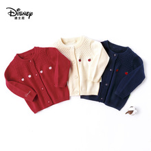 Disney New Product Pure Cotton Sweater Baby Round Neck Leisure Time Long Sleeve Loose Coat Knitting Unlined Upper Garment