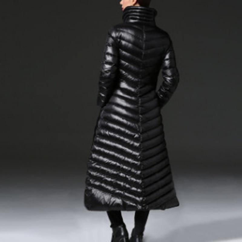Black Montant eam Longues Femme Couleur Noir Vestes Vers Épais Le094 Unique Longue Manches Lâche Chaud Col 2019 Le Poitrine Bas Printemps rqrWgwnRx1