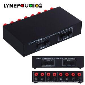 Przełącznik Audio 2 wejście 2 wyjście przełącznik pasywny wzmacniacz głośnikowy komparator selektor Audio
