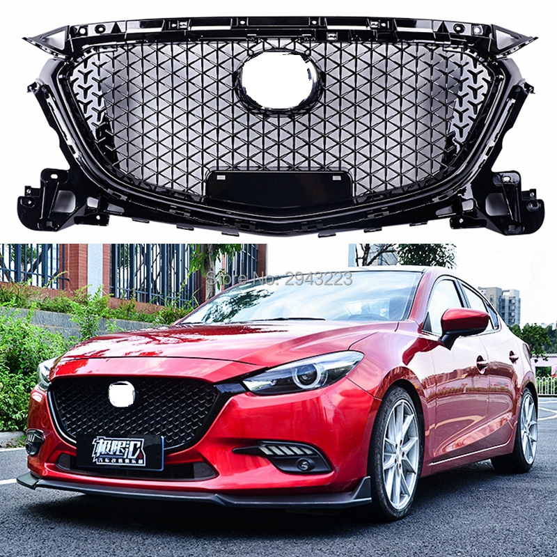 Front Lower Bumper Protector Cover Trim Fit For MAZDA 3 Axela 2017