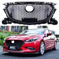 Car Styling For Mazda 3 Axela 2017 2018 ABS Plastic Black Color Front Bumper Grill Upper Grille Front Grilles Cover Protector