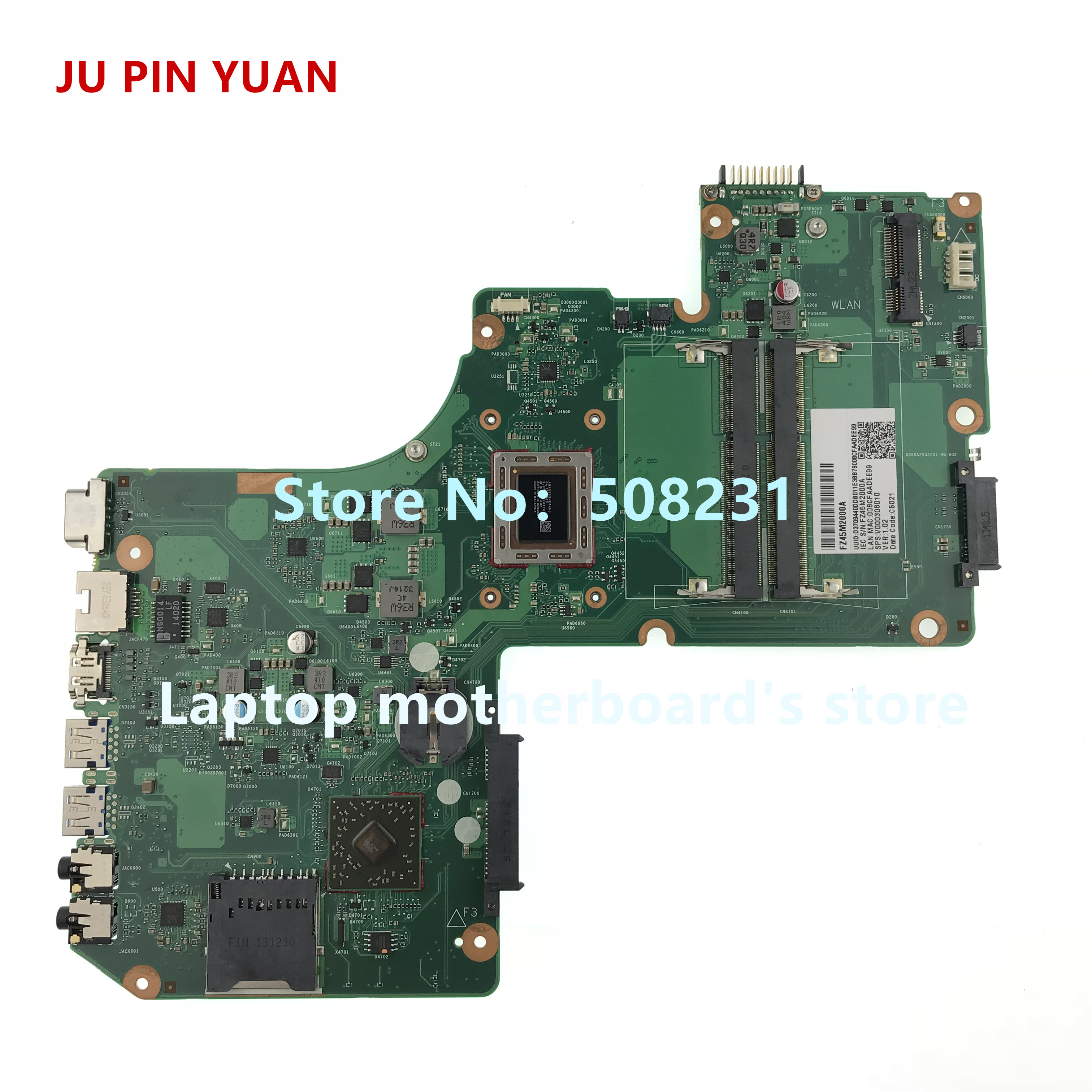 JU PIN YUAN V000308010 mainboard for Toshiba Satellite L950D L955D laptop motherboard with A8-4555M 1.6Ghz CPU JU PIN YUAN V000308010 mainboard for Toshiba Satellite L950D L955D laptop motherboard with A8-4555M 1.6Ghz CPU