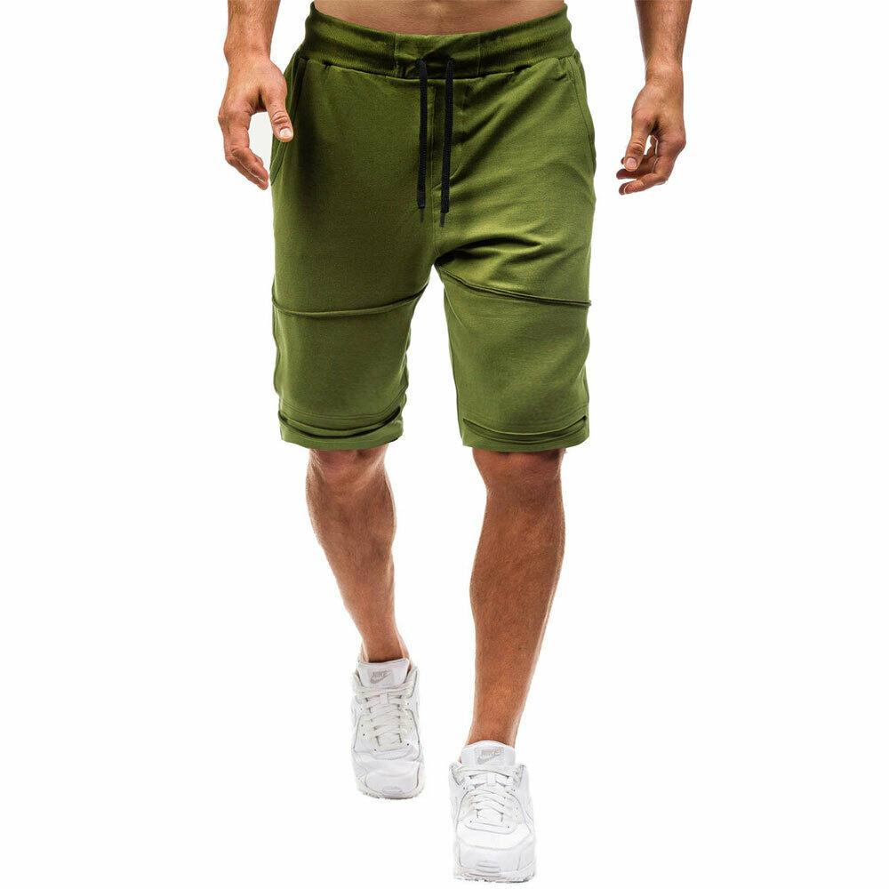Men's Casual Shorts Elastic Waist Drawstring Shortpants  Fitness Jogging Sportswear Workout Shorts Male Summer