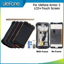 """Para ulefone armadura 2 display lcd e tela de toque + quadro perfeito peças reparo para ulefone armadura 2 digital acessório 5.0 """"+ ferramentas"""