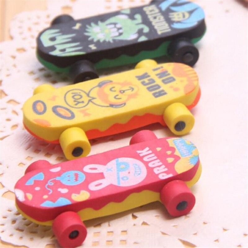 Angemessen 1 Pc Nette Tier Radiergummis Kawaii Skateboard Radiergummis Für Kinder Mädchen Geschenk Student Büro Korrektur Werkzeuge Neuheit Artikel Schreibwaren