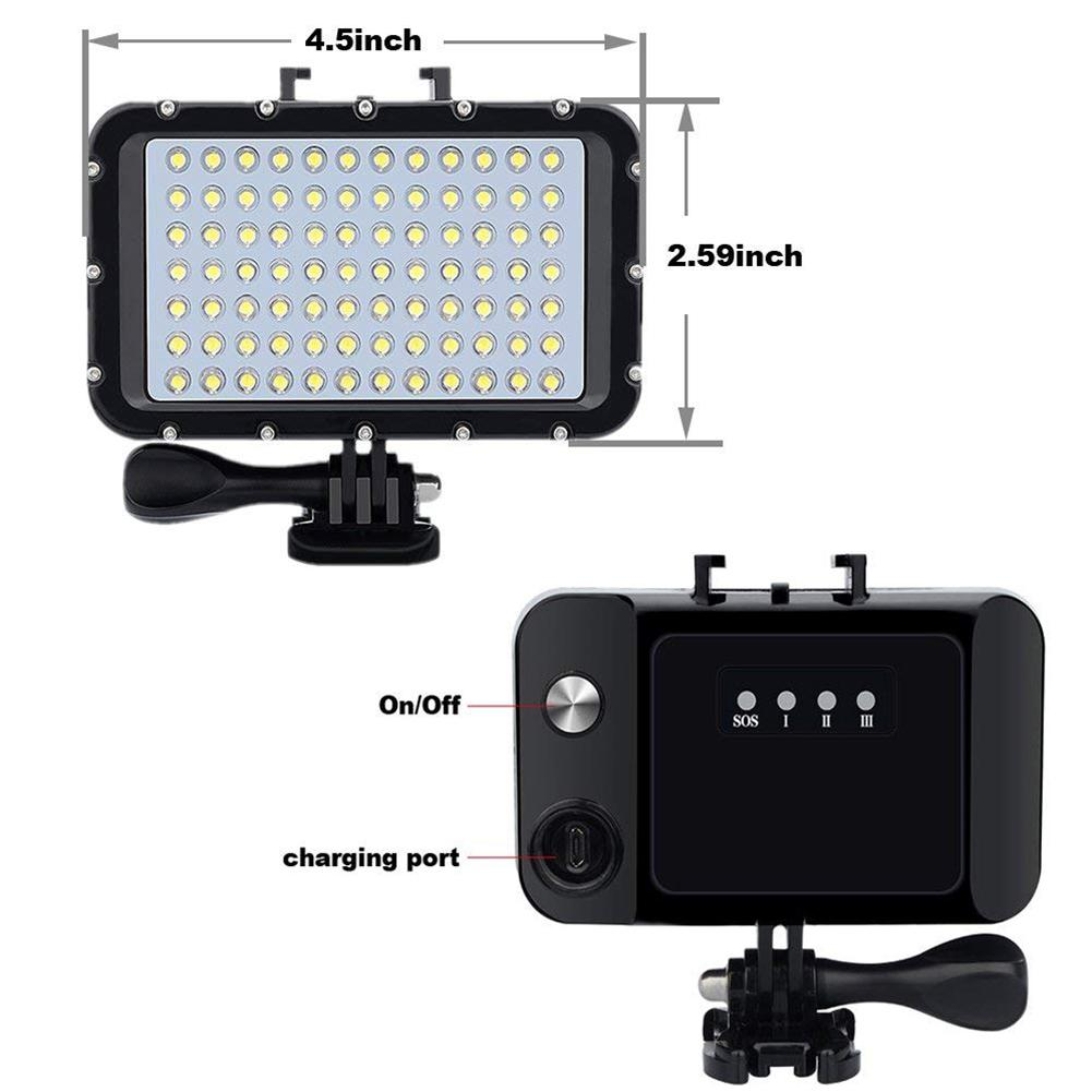 Image 5 - 50M Waterproof Underwater LED HighPower Flash Light For Gopro Canon SLR Cameras Fill Lamp Diving Video Lights Mount r29-in Sports Camcorder Cases from Consumer Electronics
