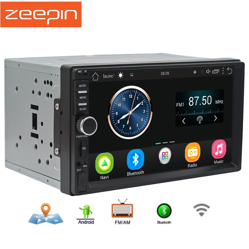 "Zeepin 2din Android Car Radio Stereo 7""1024*600 Universal Car Player GPS Navigation Wifi Bluetooth Am FM Radio Audio Player"