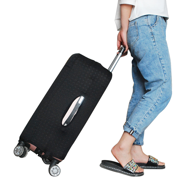 Travel Luggage Protective Cover Black Rivet