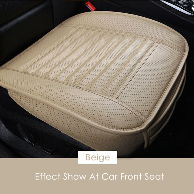 1PCS Breathable PU Leather Car Front Seat Protector Cushion Cover 53*50*30cm