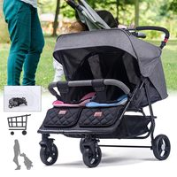 2019 luxury Gentleman Twin Baby Stroller Front and Rear Seat Double Baby Stroller Lightweight Folding Reclining Multi function