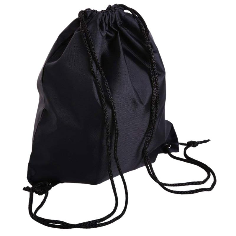 Drawstring Bag Folding Sport Backpack Nylon Gym Training Sackpack Storage Portable Use
