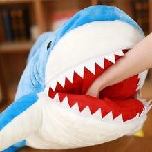 Cute Huge Shark Plush Toy Soft Simulation Stuffed Animal Toys Kids Doll Pillows Cushion ToysBrithday Gifts For Children #TC стоимость