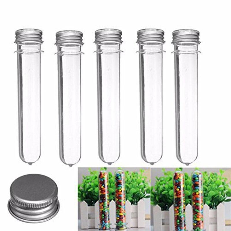 10 pièces Test plastique Transparent avec distributeur de bouchons (40 Ml, 140X25 Mm)