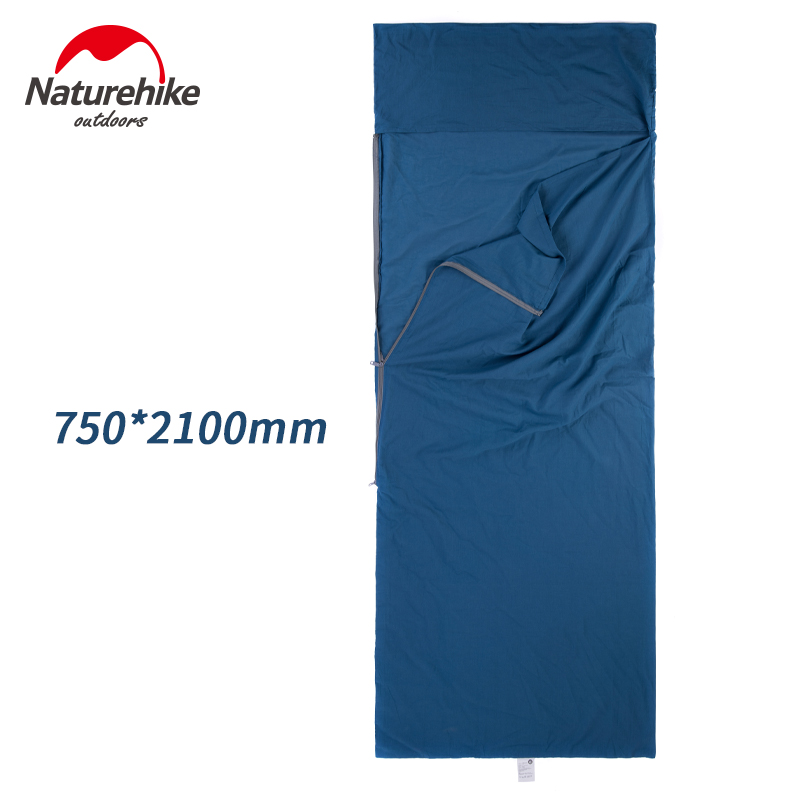 Image 5 - Naturehike Envelope Sleeping Bag Liner Cotton Ultralight Portable Camping Sheet Hiking Outdoor Travel Portable Hotel DirtySleeping Bags   -