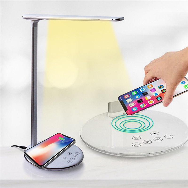 ON SALE LED Desk Lamp Table Lamp Folding 4 Light Color Temperature Office Light Wireless Desktop Charger USB