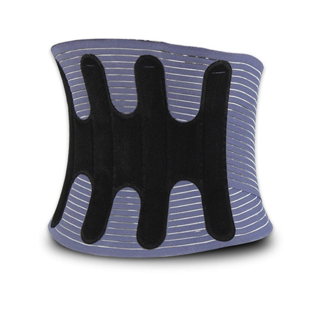 Ceinture en tôle d'acier réglable disque intervertèbre lombaire taille noir, gris ceinture respirante Protection