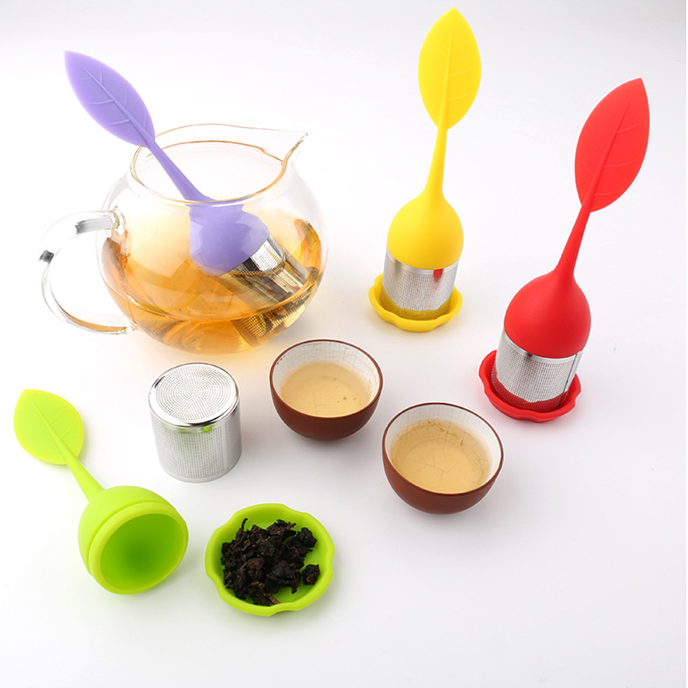 1pcs Various Shapes Tea Bags Strainer Food Grade Silicone Tea Ball Herbal Spice Filter Tea Infuser Healthly Coffee Tea Tools