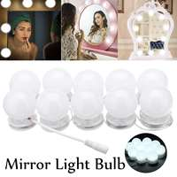 10x DIY Modern LED Mirror Light Wall Mounted Bathroom Cabinet Lamp Folding Dimmable Touches Control Makeup Light Bulb Waterproof