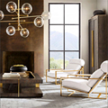 Moderne Glas LED Kroonluchter Verlichting Slaapkamer Woonkamer LED Kroonluchter Interieur Opknoping Lampen Glas Bal Avize Keuken Armaturen