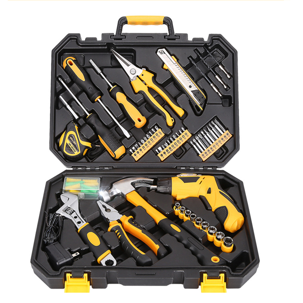 Tool for Car Repair Home Repair Tool Kit Set Electrician Hand Tool Set Household Tool Kit Saw Screwdriver Hammer Tape Wrench 11pcs set seeyule car emergency repair tool set box driver pliers electroprobe tape wrench knife kit car road safety for home