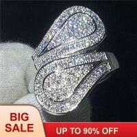 Мода цветок кольцо 925 безукоризненные Серебрянные Серьги Установка 100 шт. AAAAA Cz камень обручение обручальное для женщин Свадебные украшения