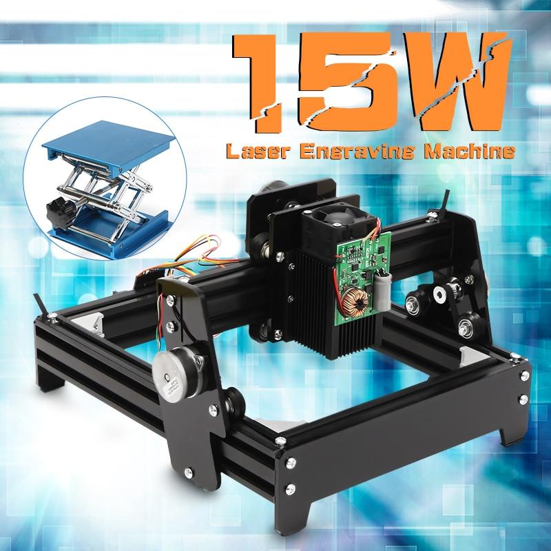 15 W Laser COMME-5 USB De Bureau 15000 mW CNC Laser Graveur bricolage Machine de Marquage Pour Le Métal Pierre Bois zone de gravure 14x20 cm