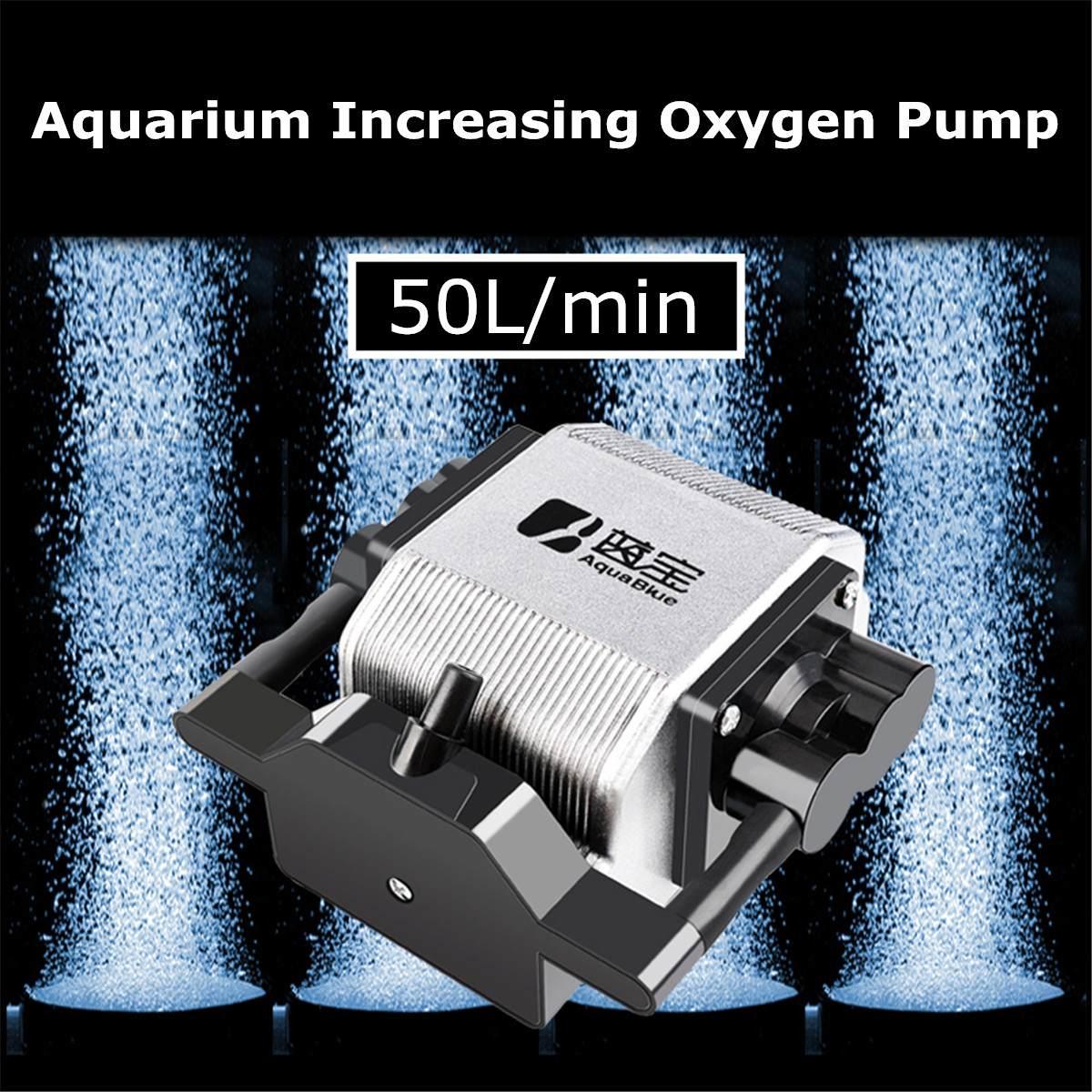 50L/min High Energy Efficient Aquarium Increasing Oxygen Fish Tank Air Pump UltraSilent Air Compressor For Aquarium Accessories