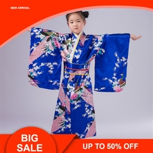 Summer Japanese Style Kimono Princess Dress Girls Korea Costumes Dance Performance Photography for