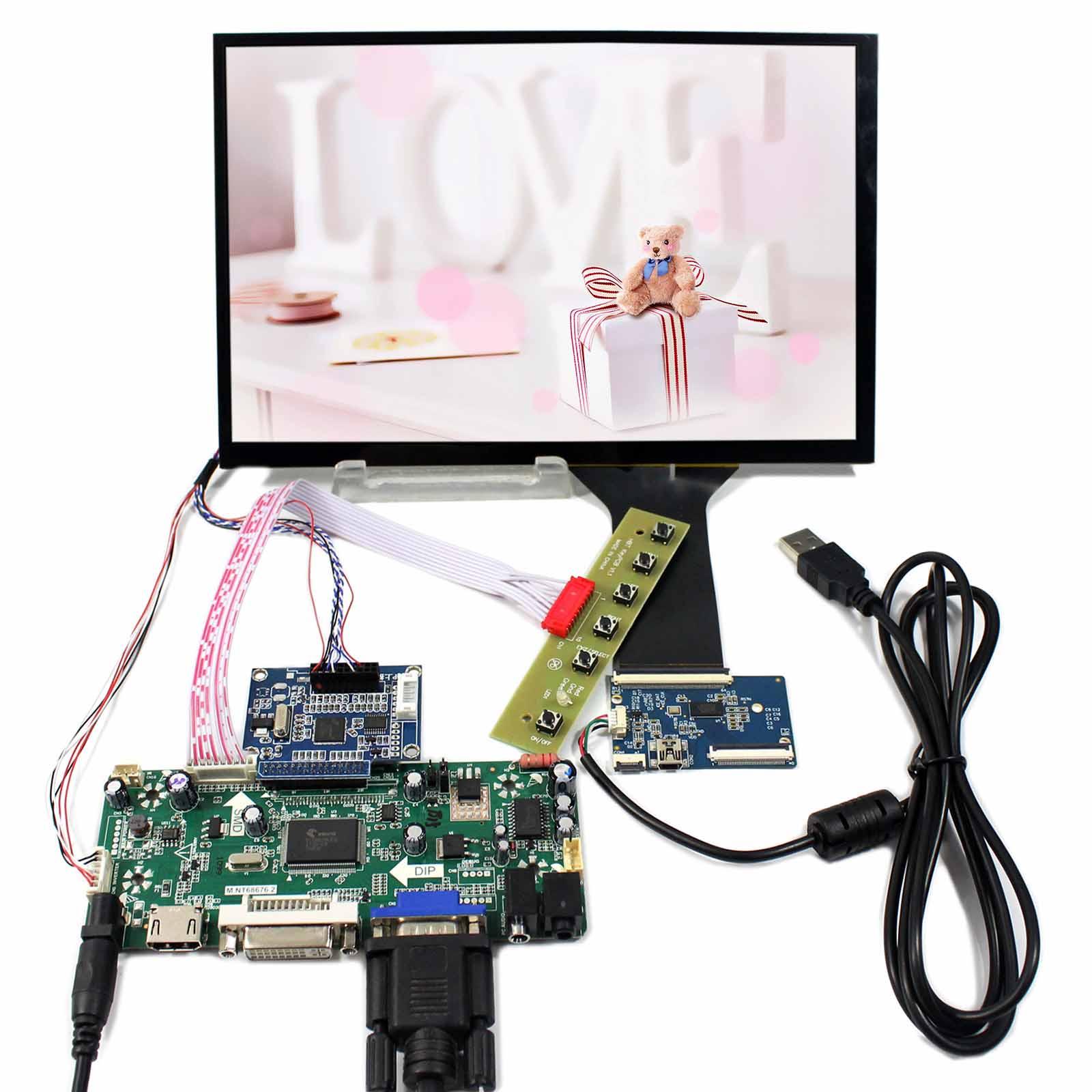 """HDMI VGA DVI Audio Controller Board 10.1/"""" B101UAN01.A 1920x1200 écran Tactile"""