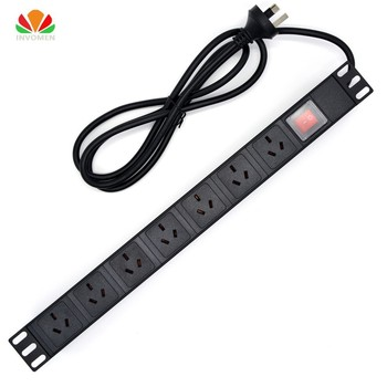 19″1U 10A 7 Units Australian PDU Power Strip Network Cabinet Rack Sockets Standard Outlet Switch Power Supply AS NZ Distribution
