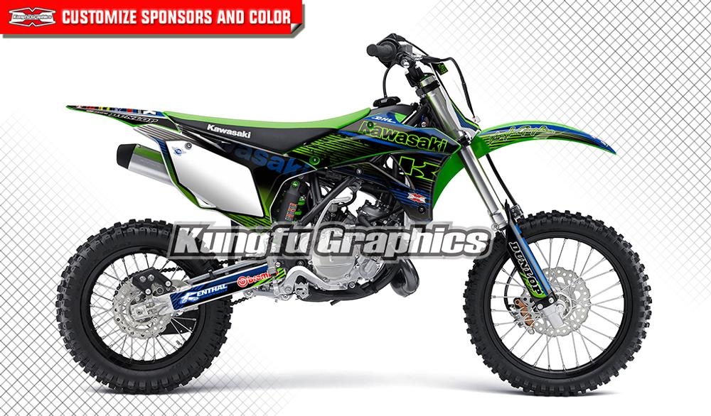 Kawasaki KLX 110-2010 2017 Full  Custom Graphic  Kit GRAFFITI STYLE decals