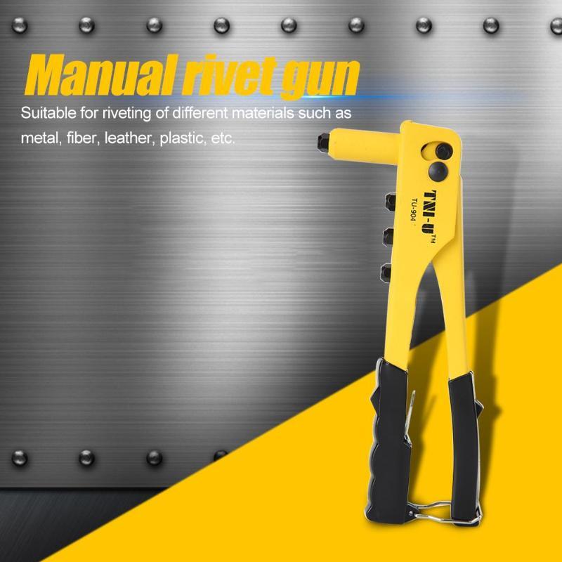Rivet Gun Manual Light Weight Riveter Nut Rivet Gun Kit Practical Threaded Nut Gutter Repair Tools Household Repair Tools