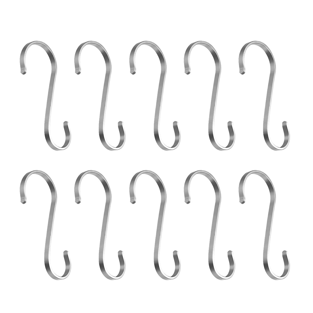 Bathroom Fixtures 10pcs Stainless Steel S Shaped Hooks Multifunctional Metal Flat Hanging Hooks Hangers For Kitchen Bathroom Garden Bedroom Moderate Cost