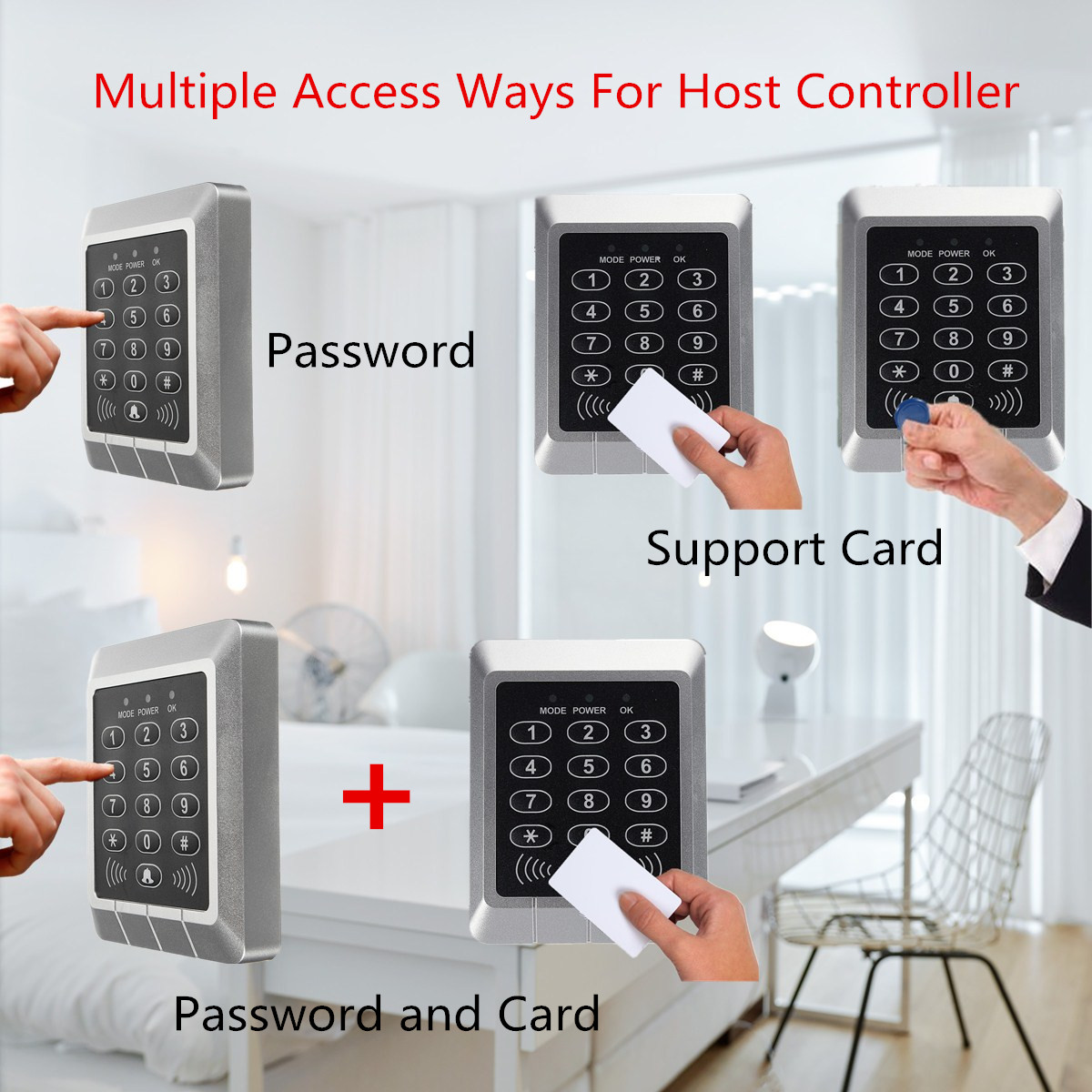 Host Controller+Electric Magnetic Lock+Keyfobs 125KHz RFID ID Card Keypad Doorbell Door Lock Security Access Control System KitHost Controller+Electric Magnetic Lock+Keyfobs 125KHz RFID ID Card Keypad Doorbell Door Lock Security Access Control System Kit