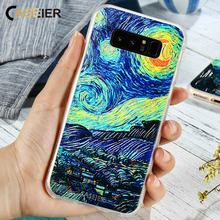 CASEIER The Starry Night Phone Case For Samsung Galaxy S6 edge S7 edge Soft TPU Cover For Galaxy S8 Plus S6 EdgeNote 8 S7 Funda все цены