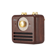 Vintage Radio Retro Speaker Wireless Bluetooth Wooden Fm Radio Speaker Strong Bass Loud Volume For Home Office Travel(China)