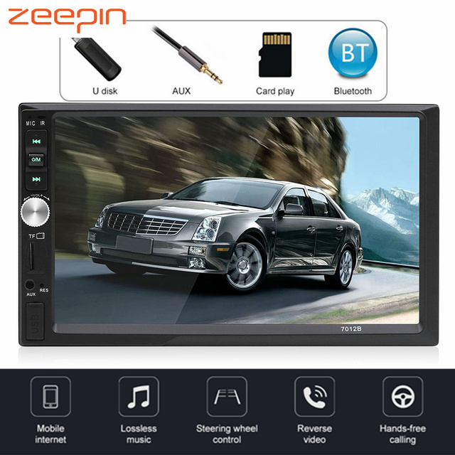 7 inch 7012B 2 Din Car Video Player Auto Audio Stereo MP5 Player 2 Din Car DVD Player Support Rear View Camera USB FM Bluetooth