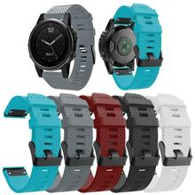купить VODOOL Silicone Watch Quick Release Silicone Easy fit Wrist Band Strap  Band for Garmin Fenix 5S Smart Watch Black Buckle 20mm недорого