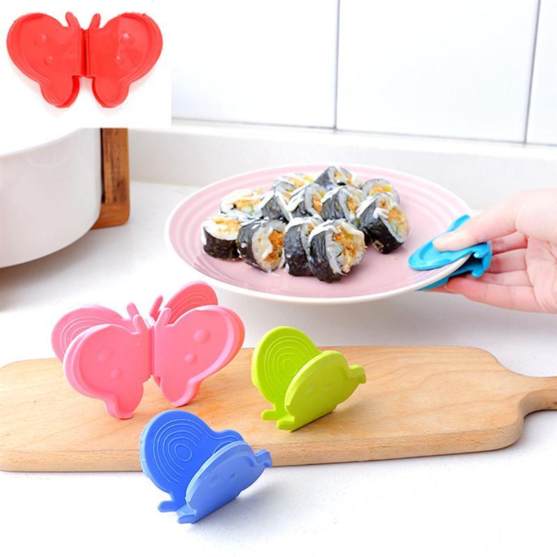 Liberaal 1 Paar Vlinder Magnetische Clips Anti-brandwonden Creatieve Siliconen Lade Houder Huishouden Keuken Isolatie Clip (lichtblauw) Met De Nieuwste Apparatuur En Technieken