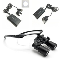 Medical Loupes 4.0/5.0/6.0X-R Binocular Magnifier Dental Surgical Loupe+3W LED Headlight Headlamp