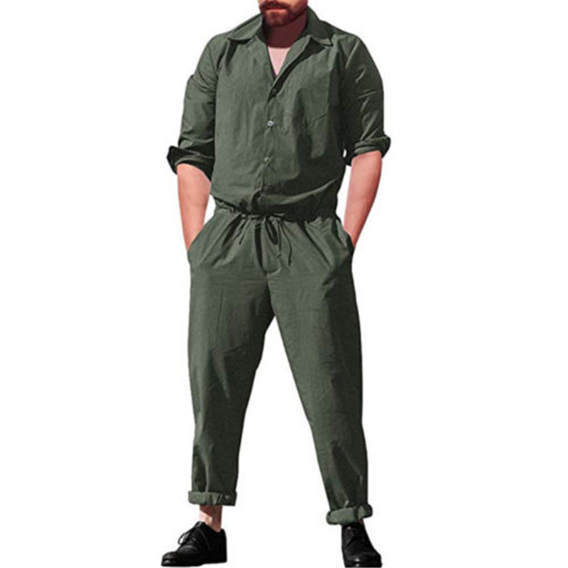 Cargo Pants Smart Mens Hip Hop Coverall Jumpsuit Dancer Casual Pants 2018 Summer Fashion Long-sleeve Solid One Piece Overalls Plus Size S-3xl Men's Clothing